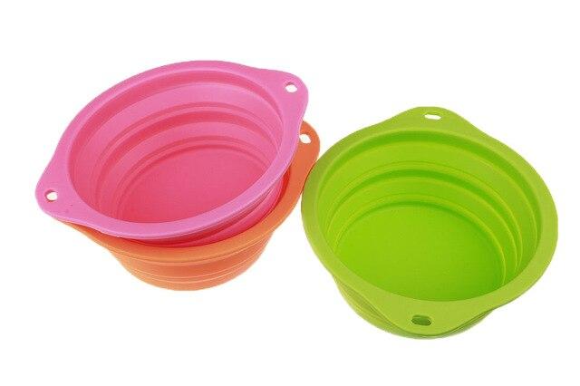 NUOYUFAN Big Size Dog Feeders New  Large Silicone Pet Folding Bowl Dog Bowl Dog Drinker Convenience Pet Bowl