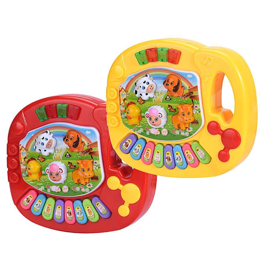 Baby Kids Musical Educational Animal Farm Piano Developmental Music Toy Dropship Y724 baby touch farm