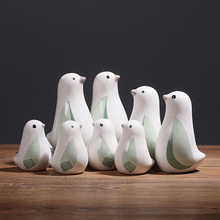 цена на Modern Minimalist ceramic animal figurines Ceramic bird figure statues creative ornaments Miniatures crafts wedding home decor