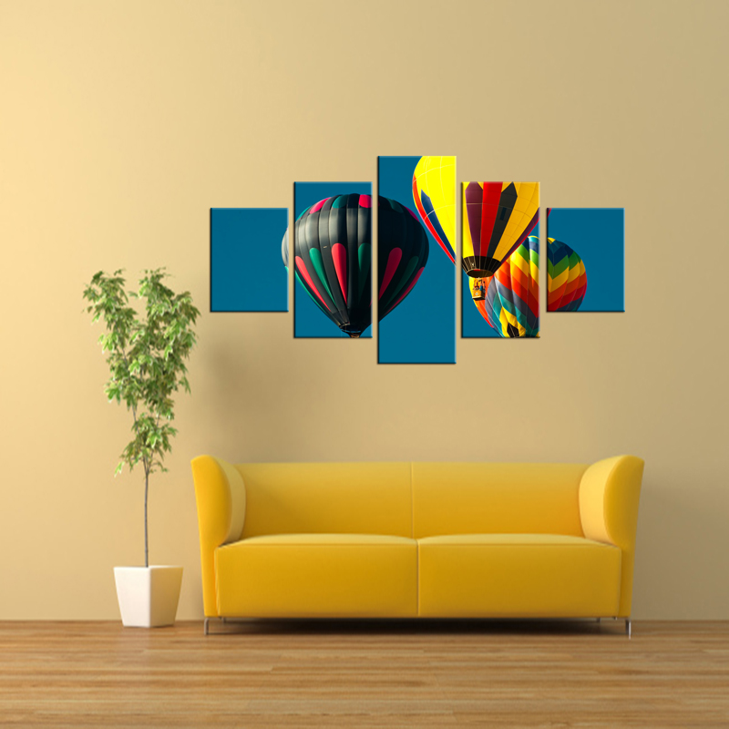 Attractive Hot Air Balloon Wall Decor Adornment - Wall Art Ideas ...