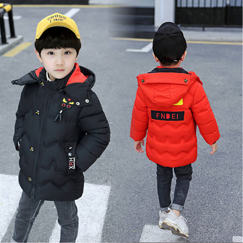 Boys cotton long thicker 2019 New children's clothing children's cotton jacket Korean version of the big child winter clothing-in Down & Parkas from Mother & Kids on AliExpress - 11.11_Double 11_Singles' Day 1
