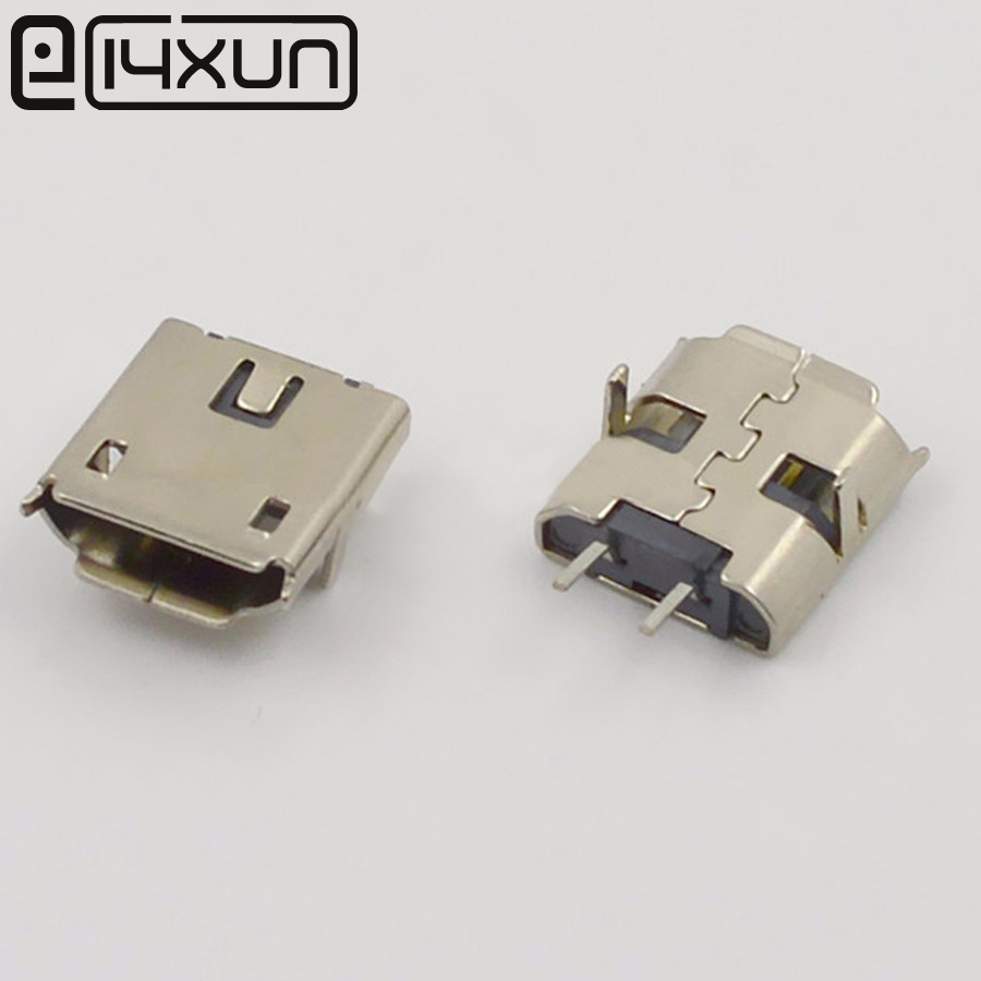 10pcs MICRO USB 2 Pin Plug Jack Interface Connector SMD SMT Plugs ...
