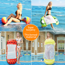 Inflatable Water Hammock Floating Bed Lounge Chair Water Play Drifter Swimming Pool Beach Float for Adult  Pool & Accessories intex pacific paradise lounge marine intex 58286 chaise lounge water floating row floating bed water
