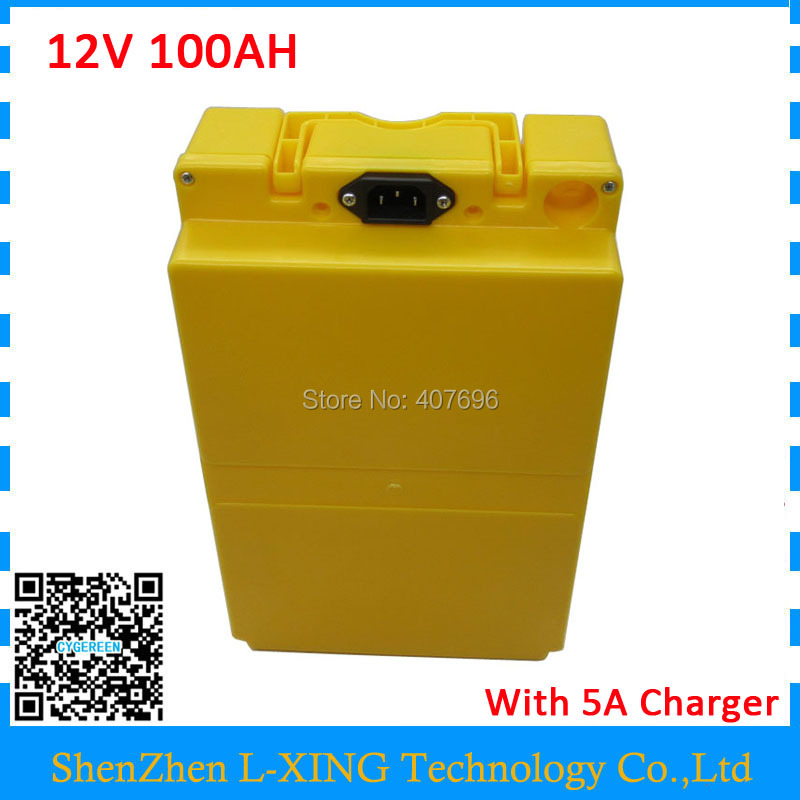 Free customs duty 500W 12 V Battery 12V 100AH lithium battery 12V electric bike battery 26650 cell with 50A BMS 12.6V 5A Charger 2017 new style electric bike battery 24v 100ah lithium battery pack with bms customized