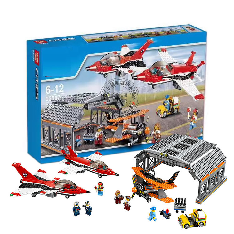 City Series Airport Air Show Plane Helicopter Model Toys Building Brick Education Gift Same 60103 airport