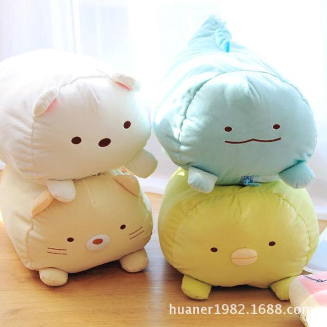 ФОТО Japanese Animation sumikko doll with Blankets San-X Corner Bio cute cartoon plush toys Soft Pillow 4 style