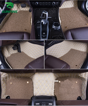 3D Car Floor Mat for VW GOLF 6 foot mat car foot pad with One Layer Thermosol coil Pad Left hand driver car styling liners