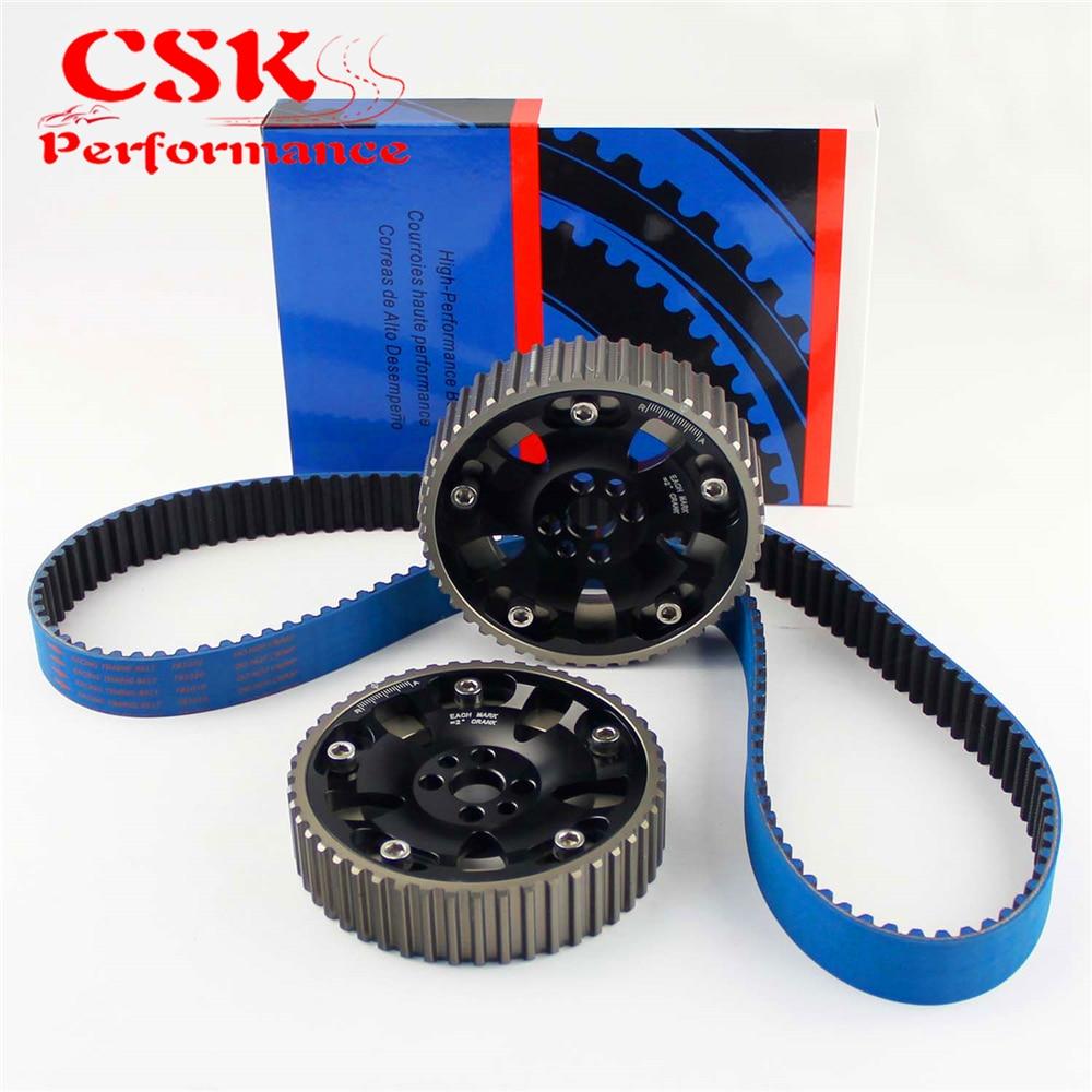Timing Belt+Cam Gear Kit Fits For Nissan Skyline R32 R33 RB20 RB25DET RB26DET Black/Blue/Red/Purple кривошипно шатунный механизм no logo 3pcs set nissan skyline rb20 rb25 rb26