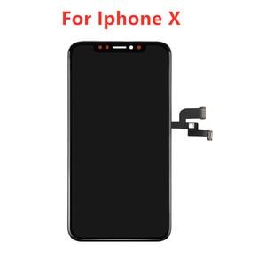 Image 1 - Для iPhone X XS TFT OLED LCD дисплей сенсорный экран дигитайзер сборка запасные части для iPhone X OLED экран без битых пикселей