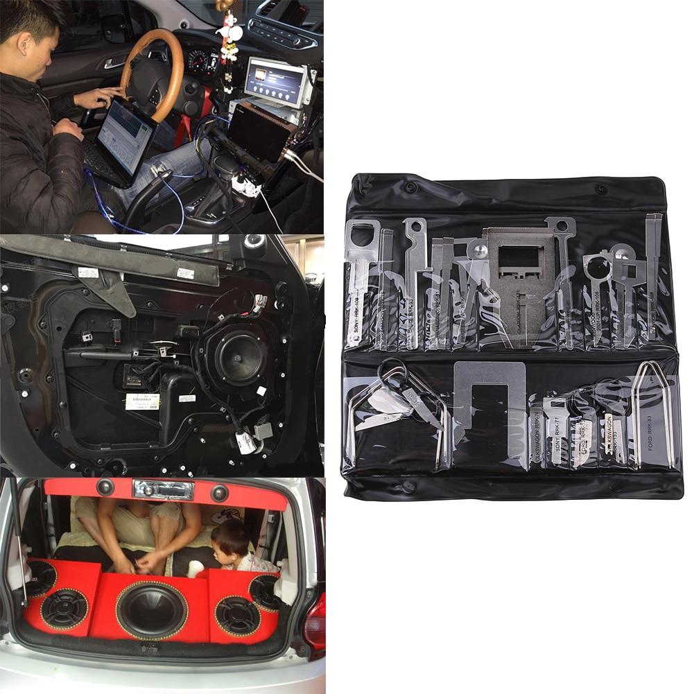 38pcs strumenti di rimozione di rilascio di autoradio stereo per auto - Set di attrezzi - Fotografia 2