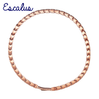 Escalus 44 PCS 99.9999% Full High Pure Germanium Necklace For Women Bio Energy Rose Gold Color Titanium Fashion Necklace