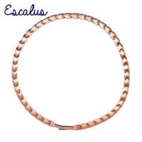 Escalus 44 PCS 99 9999 Full High Pure Germanium Necklace For Women Bio Energy Rose Gold
