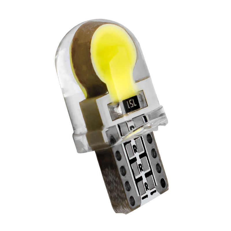 T10 W5W WY5W 168 2825 Car Interior Dome Light Silica Gel COB LED Bulbs Silicone Shell Auto Wedge parking light Turn Side Lamps