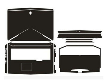 KH Laptop pegatina calcomanía piel fibra de carbono cuero cubierta Protector para...