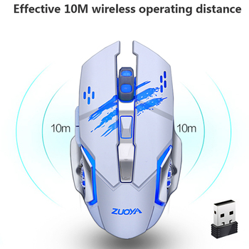 ZUOYA Silent Gaming Wireless Mouse 2.4GHz 2000DPI Rechargeable Wireless Mice USB Optical Game Backlight Mouse For PC Laptop 1
