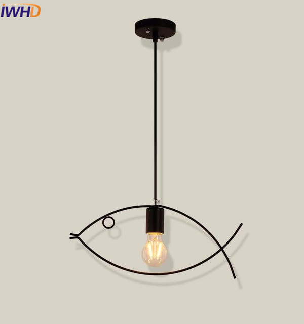 IWHD Iron Light Fixture Vintage Industrial Lighting Pendant Lamp ...