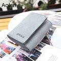 Aolen браслет кошелек женщины бумажники дизайн бренда высокое качество известный дизайнер 2016 роскошные кожаные большие короткие бумажник Женщина