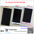 4.7 inch For HUAWEI Ascend P6 P6-U06 C00 T00 Touch Digitizer Panel LCD Screen Display with Frame White/Black/Pink Original Test