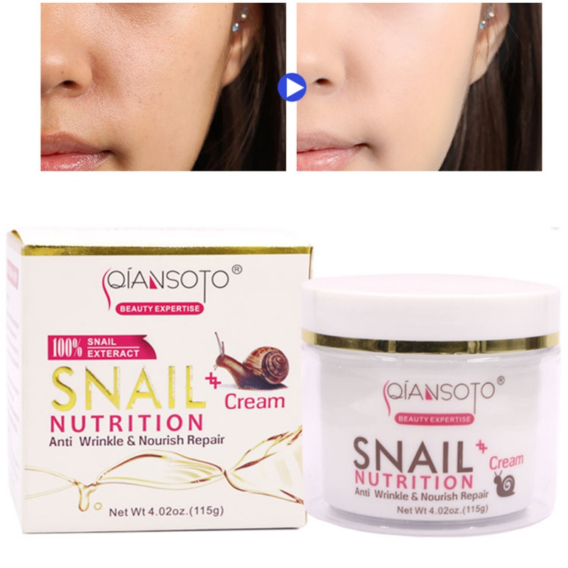 115g Snail Face Cream Anti Aging Anti Wrinkle Day Cream Night Cream, for Moisturizer Dry Skin Repair Fine Lines Snail Face Cream image