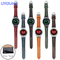 For Samsung Gear S2 Smart Watch band 20mm Genuine Leather Watchband R720 Quality Watch accessories With Adapter