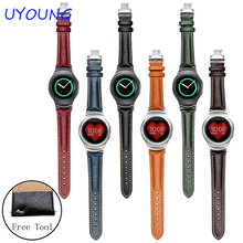 Pour Samsung Gear S2 Smart Watch band 20mm Véritable Bracelet En Cuir R720 Qualité Montre accessoires Avec Adaptateur