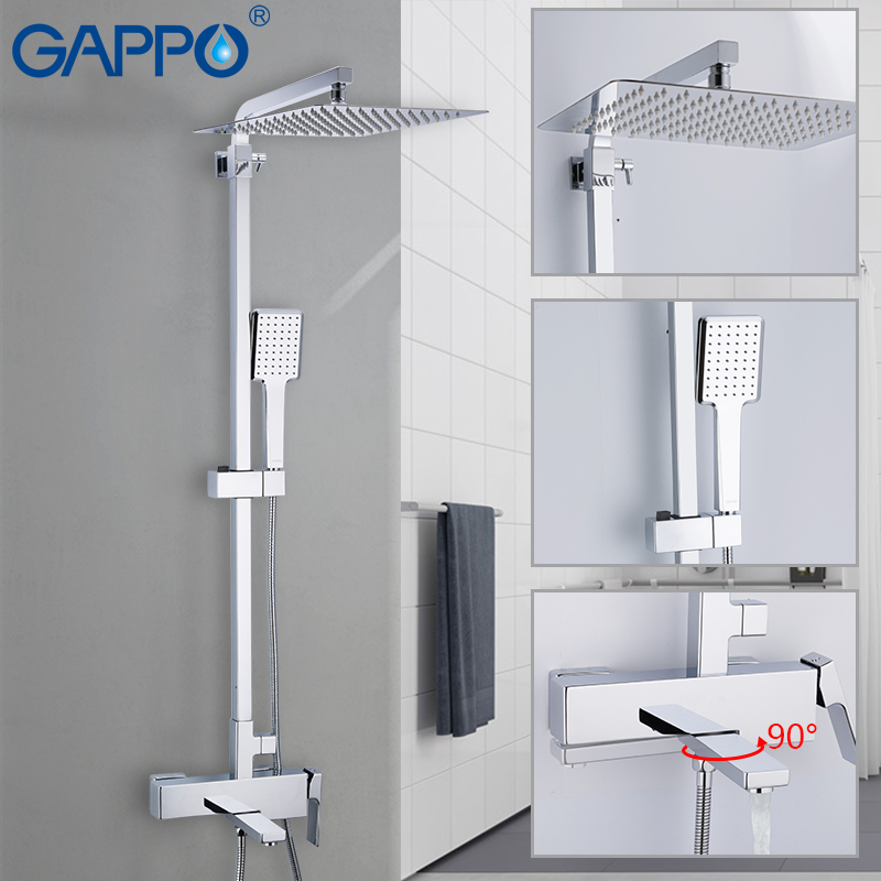 GAPPO shower faucets wall Mounted Brass bathroom faucet shower set Griferia bath shower set bathtub faucet