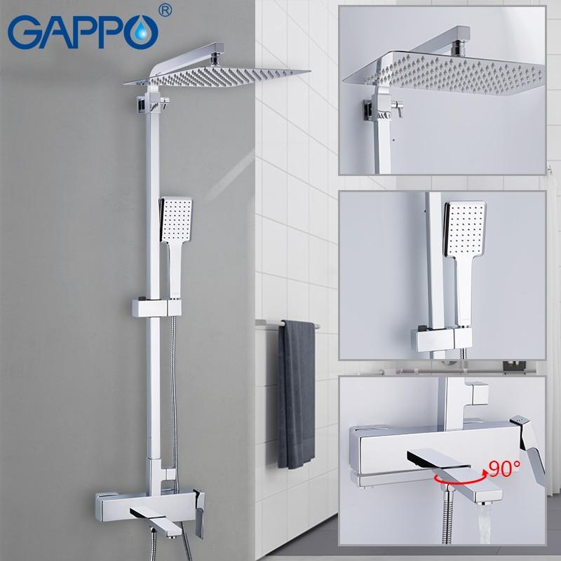 GAPPO chuveiro torneiras wall Mounted Latão banheiro torneira do chuveiro set bath shower set torneira da banheira torneira do chuveiro cachoeira Griferia