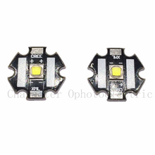 2 PCS CREE Xlamp XML2 XM-L2  10W White 6500K High Power LED Emitter Bulb with 20mm Heatsink For Flashlight DIY