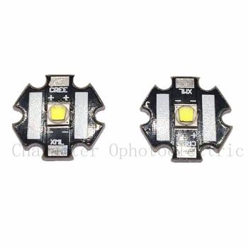 2 PCS CREE Xlamp XML2 XM-L2  10W White 6500K  High Power LED Emitter Bulb with 20mm Heatsink For Flashlight DIY