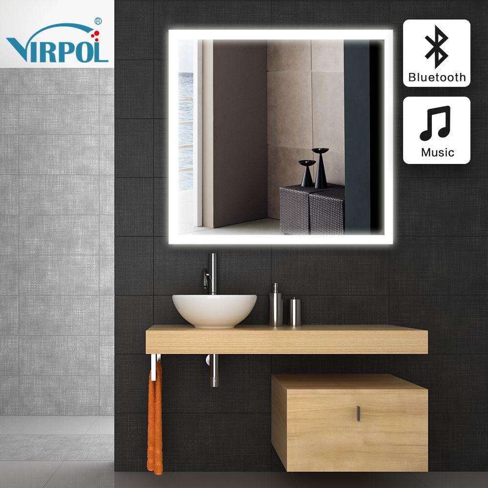 Espejo del baño en el baño 80x80cmBathroom bluetooth Bluetooth LED ...