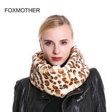 FOXMOTHER 2019 New Fashion Faux Fur Neck Warmer Snood Leopard Scarf Women Echarpe Foulard Dropshipping