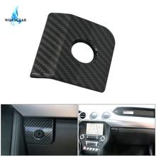 Карбоновый черный АБС подлокотник ящик для хранения переключатель Крышка Накладка для Ford Mustang 2015-2018 автомобильный переключатель кнопка Glover рамка крышка/