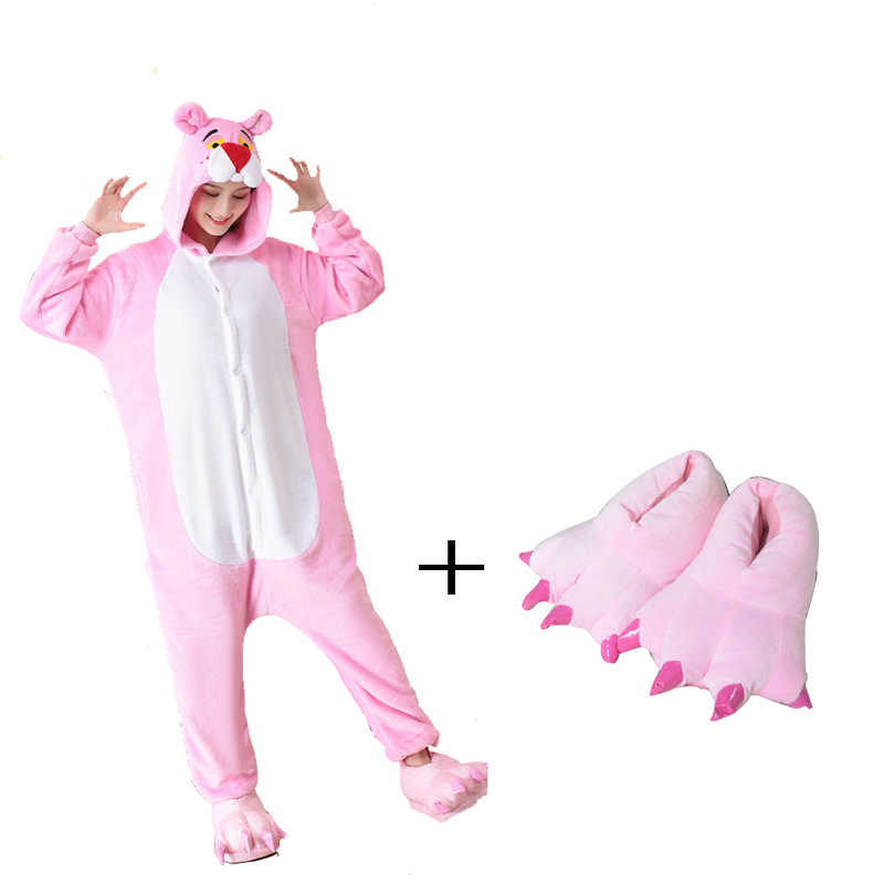f1bd9712eb4d Detail Feedback Questions about Winter Kigurumi Cute Pink Panther ...