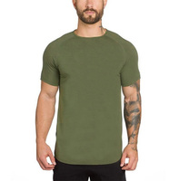 Brand gyms clothing fitness t shirt men fashion extend hip hop summer short sleeve t-shirt cotton bodybuilding muscle tshirt man 3