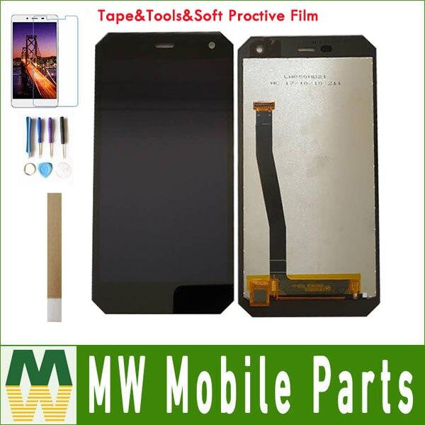 1 pc/lot Haute Qualité 100% Garantie 5.0 Pour DEXP Ixion P350 Tundra Écran LCD + Écran Tactile Noir Blanc couleur Avec kit