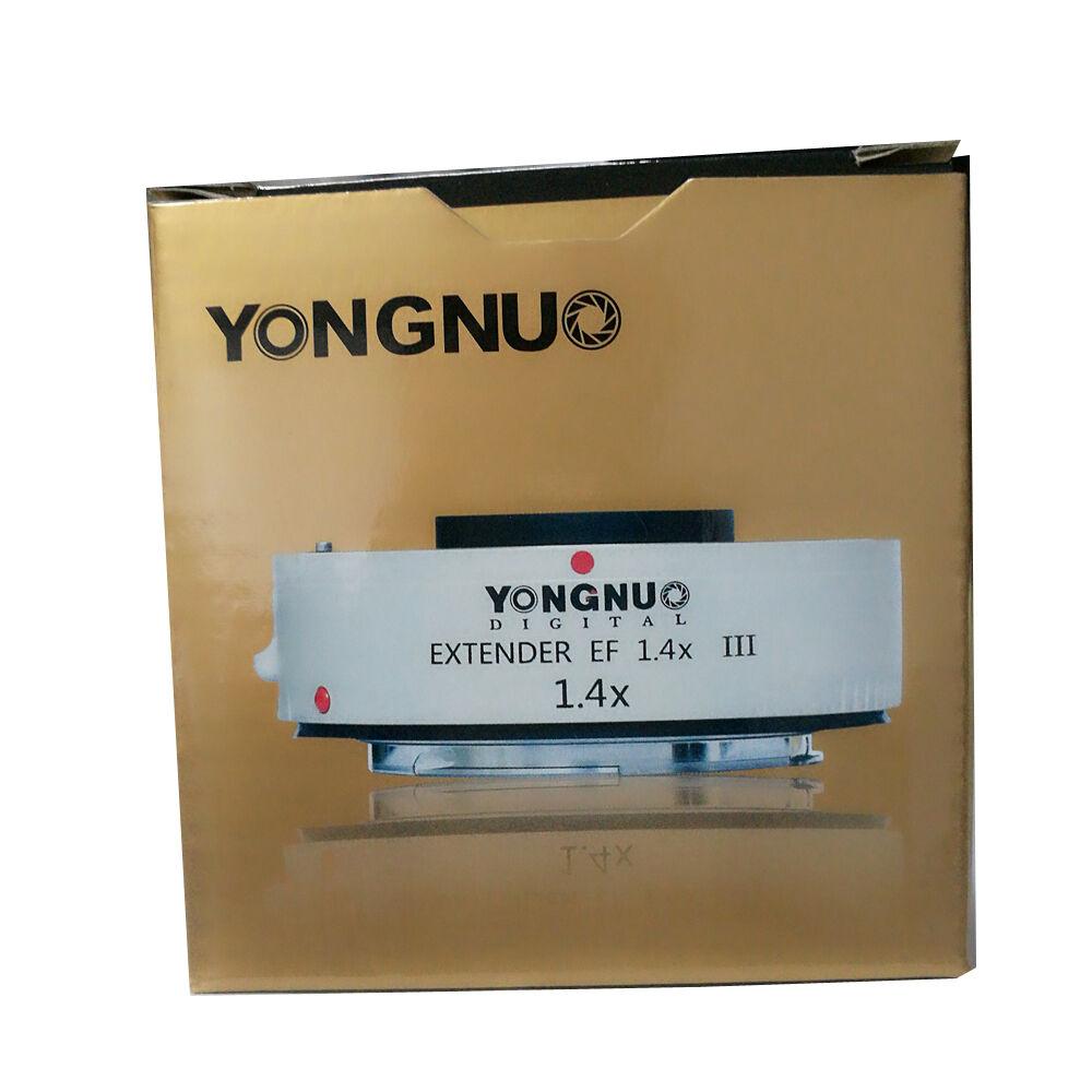Yongnuo YN1.4XIII prolongateur de YN-1.4XIII EF 1.4X objectif de mise au point automatique téléconvertisseur pour Canon autofocus complet 1D X 1Ds 1D 70D 7D 80D 7DI - 5