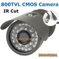 800TVL CCTV Câmera Com Frete Bracket Suporte Night Vision Cor Imagem IR Câmera Ao Ar Livre À Prova de Intempéries de Vigilância CCTV Sistema