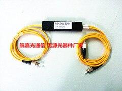 Free Shipping 2pcs/lot 1x2 ABS Box 1*2 FC/UPC Fiber Optical PLC Splitter