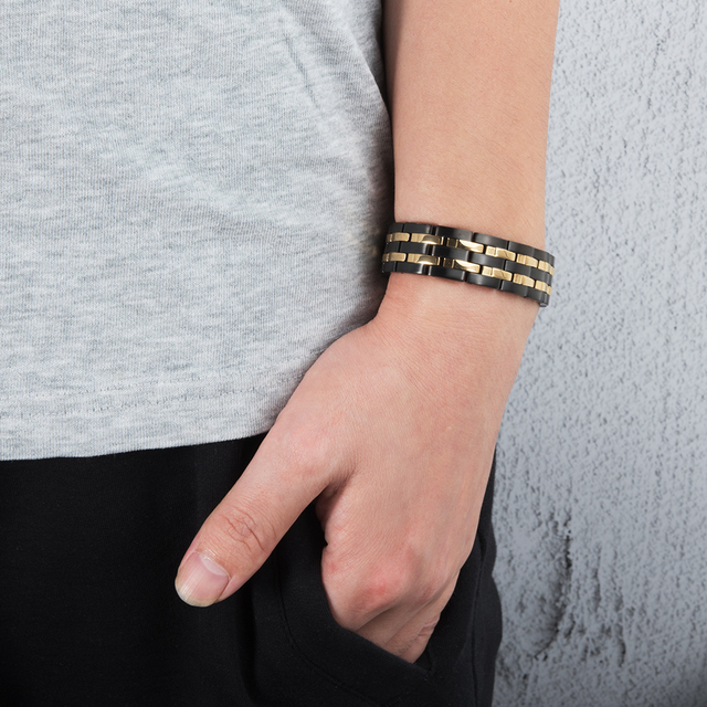 Wrist Band Magnetic Bracelet for Men