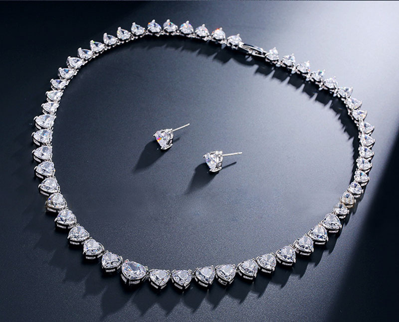GODKI Women Luxury Bridal Full Mirco Pave AAA Cubic Zirconia Necklace Earring Jewelry Set