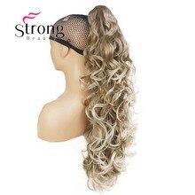 StrongBeauty נשים גבירותיי בנות סינטטי X ארוך W מדהים צורת טופר קליפ קוקו פוני זנב שיער Extensio צבע אפשרויות