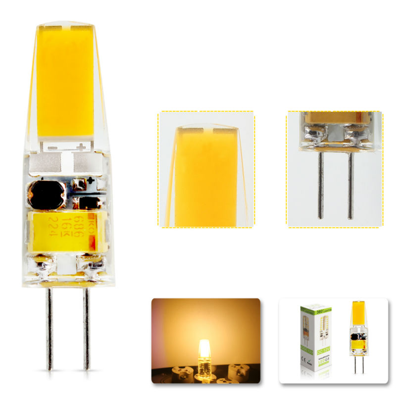 1Pcs/lot 2015 G4 AC DC 12V Dimmable Led bulb Lamp SMD 6W Replace halogen lamp light 360 Beam Angle luz lampada led