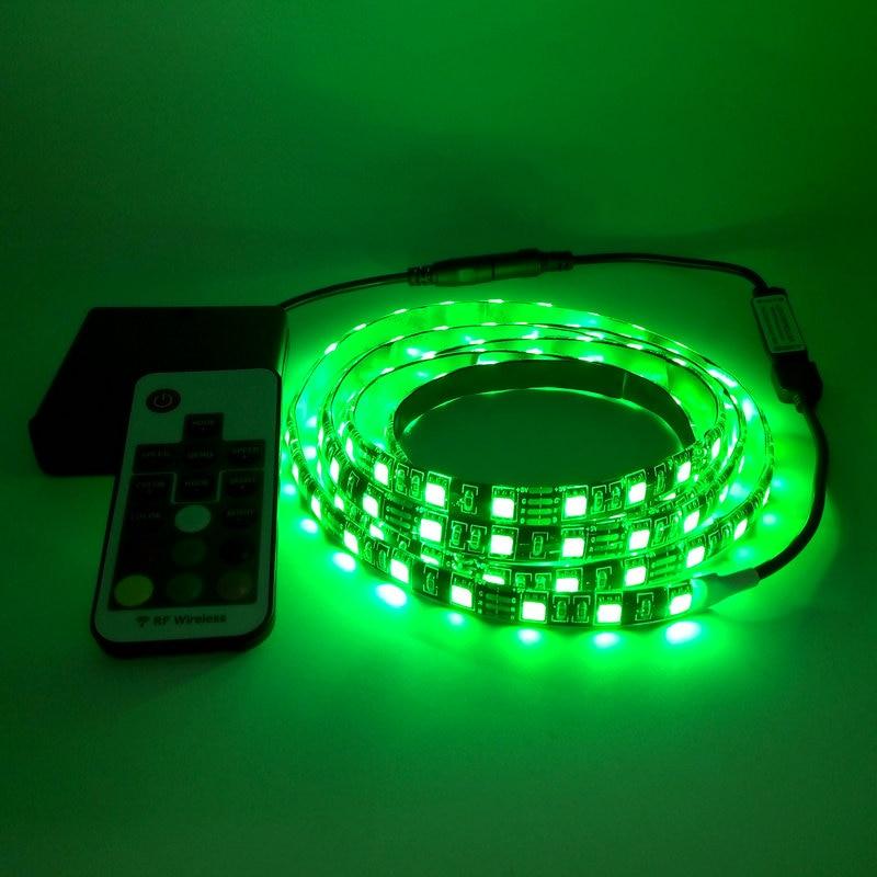 Taśma LED na baterie 5050 RGB 5V Czarna taśma PCB Oświetlenie - Oświetlenie LED - Zdjęcie 3