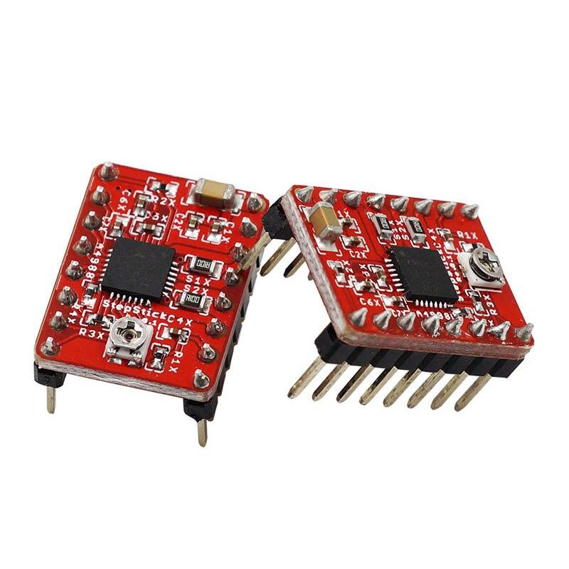 Nouvelle Carte Mère Makerbase MKS GEN L avec 5 pièces DRV A4988 Conducteur + 3D Touches Module Ensemble pour 3D Imprimante DOM668