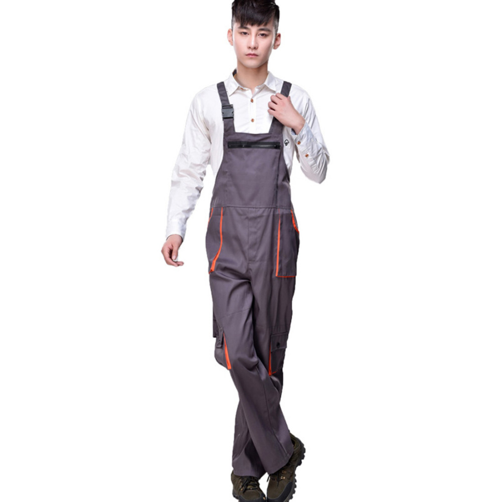 79eb0f50903 Women Protective Coverall Cargo Pants Men Work Overalls Repairman Strap  Jumpsuits Suspenders Trousers Working Uniforms Clothing