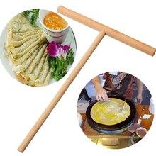 Портативный домашний кухонный набор инструментов DIY Использовать блинница блинное тесто деревянная распорная палочка