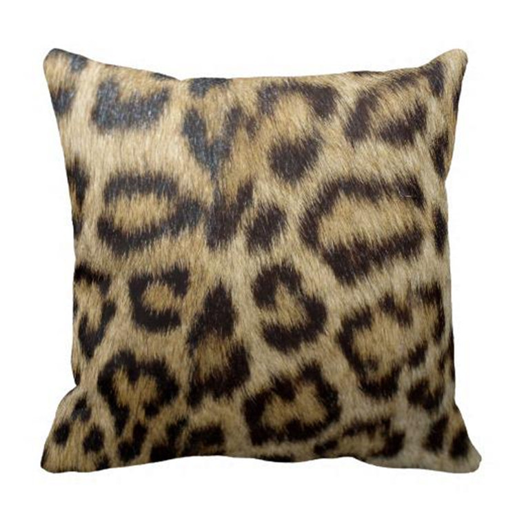 animal design plain cotton throw pillow covers leopard prints cushion covers for bedroom decor