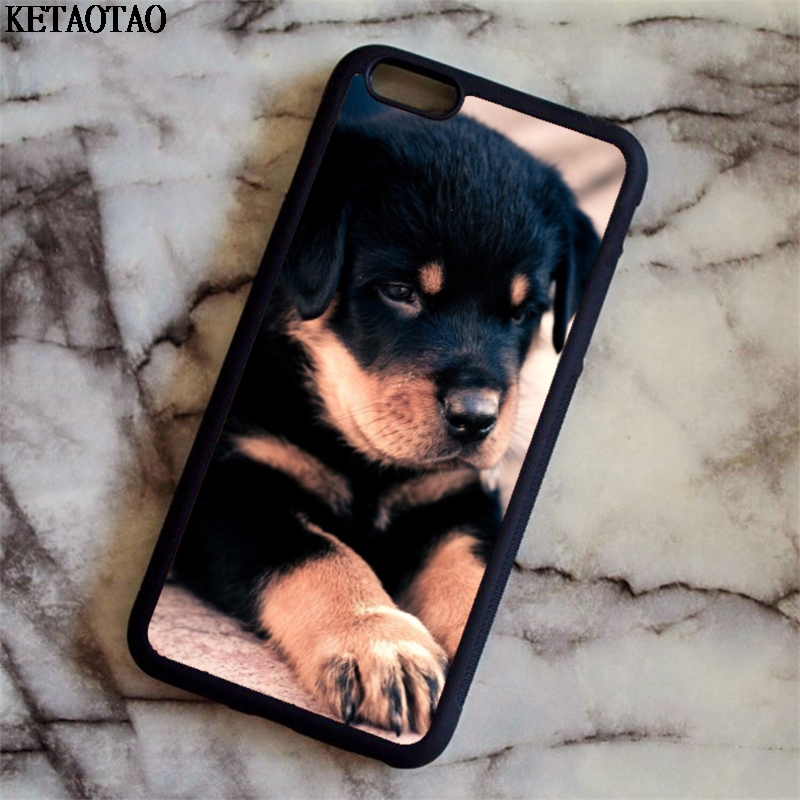 KETAOTAO Puppy rottweiler dog Phone Cases for iPhone 4S 5C 5S 6 6S 7 8 Plus X for Samsung S4 5 6 7 Case Soft TPU Rubber Silicone ...