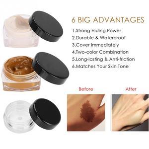 1 set Upgrade Professional Scar Tattoo Concealer Vitiligo Hiding Spots Face Eye Lip Makeup Cover Cream Tattoo Concealer Cream