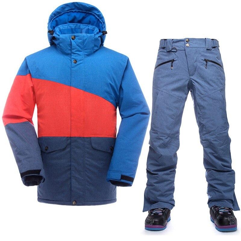 SAENSHING marque Ski costume hommes Ski de montagne costume pour hommes imperméable thermique Snowboard veste + pantalon de Ski respirant hiver neige - 4